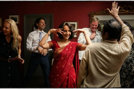 Ein Hauch von Bollywood auf einer Hochzeit inLondon